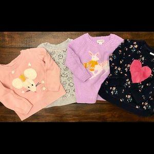 Girls sweaters sweatshirt bundle lot holiday